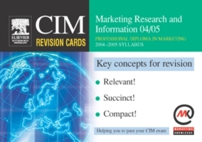 Обложка книги  - CIM Revision Cards: Marketing Research and Information 04/05