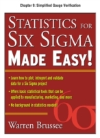 Обложка книги  - Statistics for Six Sigma Made Easy, Chapter 9