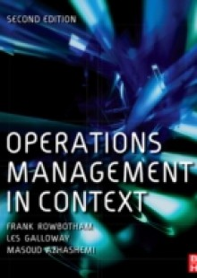 Обложка книги  - Operations Management in Context