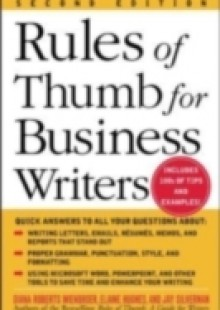 Обложка книги  - Rules of Thumb for Business Writers