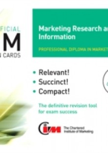 Обложка книги  - CIM Revision Cards Marketing Research and Information