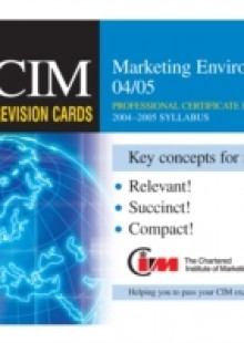 Обложка книги  - CIM Revision Cards: Marketing Environment 04/05