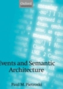 Обложка книги  - Events and Semantic Architecture