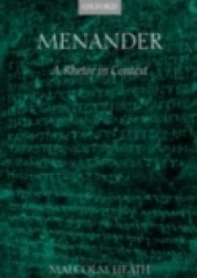 Обложка книги  - Menander: A Rhetor in Context
