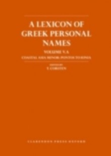 Обложка книги  - Lexicon of Greek Personal Names