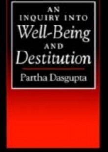 Обложка книги  - Inquiry into Well-Being and Destitution