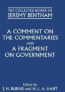Обложка книги  - Comment on the Commentaries and A Fragment on Government