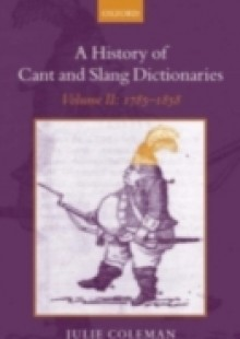 Обложка книги  - History of Cant and Slang Dictionaries