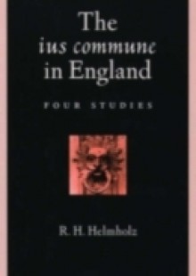 Обложка книги  - ius commune in England: Four Studies