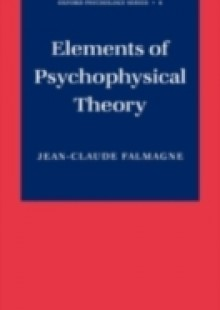 Обложка книги  - Elements of Psychophysical Theory