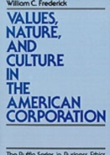 Обложка книги  - Values, Nature, and Culture in the American Corporation