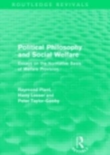 Обложка книги  - Political Philosophy and Social Welfare (Routledge Revivals)