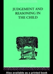 Обложка книги  - Judgement and Reasoning in the Child