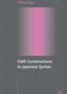 Обложка книги  - Cleft Constructions in Japanese Syntax