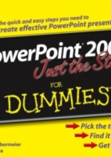 Обложка книги  - PowerPoint 2003 Just the Steps For Dummies
