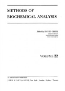 Обложка книги  - Methods of Biochemical Analysis, Volume 22