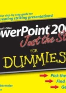 Обложка книги  - PowerPoint 2007 Just the Steps For Dummies