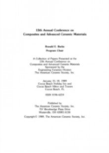 Обложка книги  - 13th Annual Conference on Composites and Advanced Ceramic Materials, Part 2 of 2