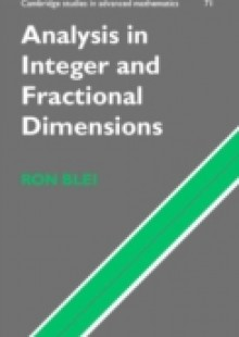 Обложка книги  - Analysis in Integer and Fractional Dimensions