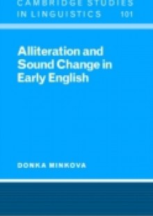 Обложка книги  - Alliteration and Sound Change in Early English