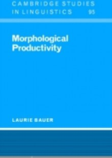 Обложка книги  - Morphological Productivity
