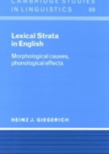 Обложка книги  - Lexical Strata in English