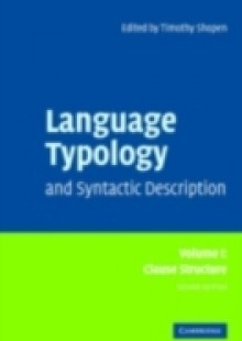 Обложка книги  - Language Typology and Syntactic Description: Volume 1, Clause Structure
