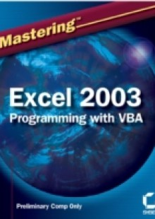 Обложка книги  - Mastering Excel 2003 Programming with VBA