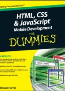 Обложка книги  - HTML, CSS, and JavaScript Mobile Development For Dummies