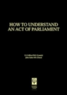 Обложка книги  - Understanding Act of Parliament
