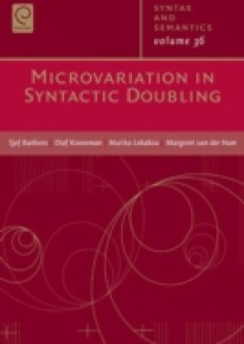 Обложка книги  - Microvariations In Syntactic Doubling