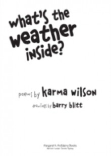 Обложка книги  - What's the Weather Inside?