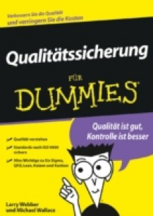 Обложка книги  - Qualit tssicherung f r Dummies