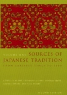 Обложка книги  - Sources of Japanese Tradition