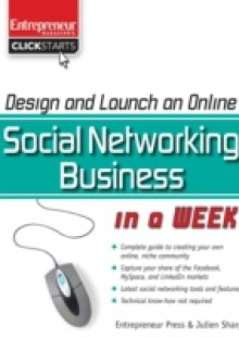 Обложка книги  - Design and Launch an Online Social Networking Business in a Week