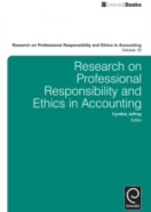 Обложка книги  - Research on Professional Responsibility and Ethics in Accounting