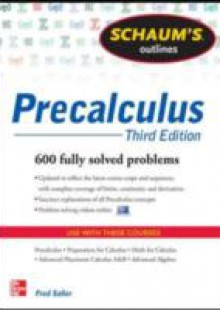 Обложка книги  - Schaum's Outline of Precalculus, 3rd Edition