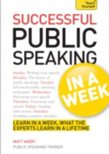Обложка книги  - Public Speaking In A Week