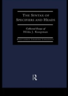 Обложка книги  - Syntax of Specifiers and Heads