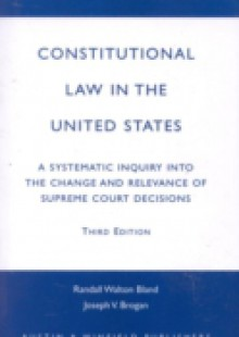 Обложка книги  - Constitutional Law in the United States