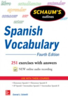 Обложка книги  - Schaum's Outline of Spanish Vocabulary 4E EBOOK