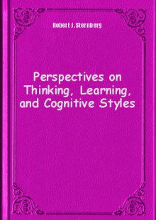 Обложка книги  - Perspectives on Thinking, Learning, and Cognitive Styles
