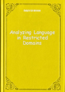 Обложка книги  - Analyzing Language in Restricted Domains