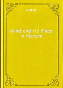 Обложка книги  - Mind and its Place in Nature