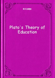 Обложка книги  - Plato's Theory of Education