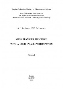 Обложка книги  - Mass Transfer Processes with a Solid Phase Participation