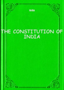 Обложка книги  - THE CONSTITUTION OF INDIA